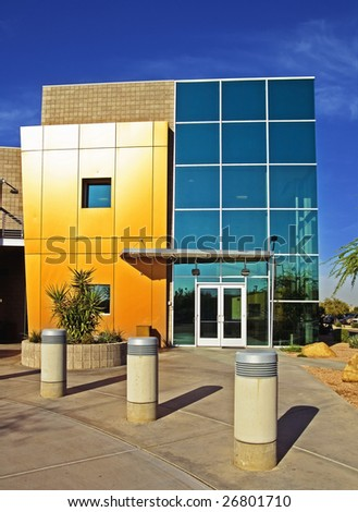 Modern stylish business building exterior - stock photo