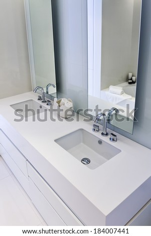 Modern, stylish design bathroom.