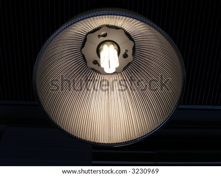 Modern stylish lamp - stock photo