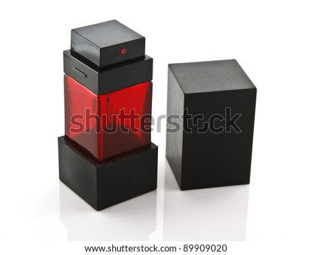 Modern stylish perfume bottle - stock photo