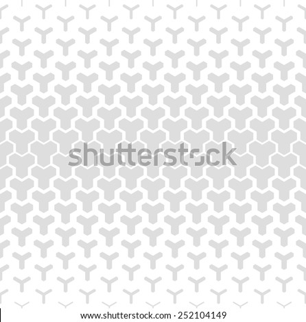 Modern stylish texture, seamless pattern. Repeating geometric tiles. White and gray texture. - stock photo