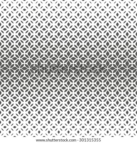 Modern stylish texture with flowers. Seamless pattern. Repeating geometric tiles. Gray and white texture. - stock photo