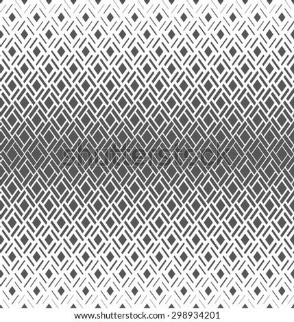 Modern stylish texture with rhombus. Seamless pattern. Repeating geometric tiles. White and gray texture. - stock photo
