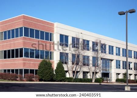 Modern suburban office building - stock photo