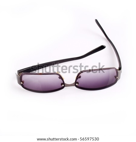 Modern sunglasses isolated on white
