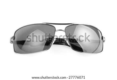 Modern sunglasses, isolated on white background