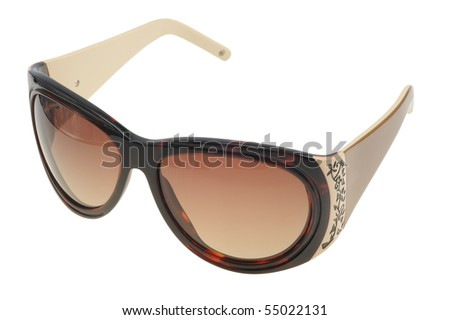Modern sunglasses on a white background, isolated - stock photo