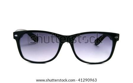 Modern sunglasses over white - stock photo