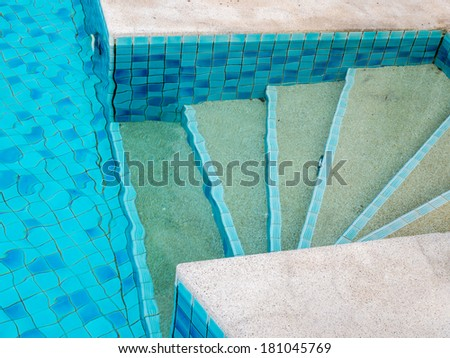 Modern swimming pool design at tropical residence - stock photo