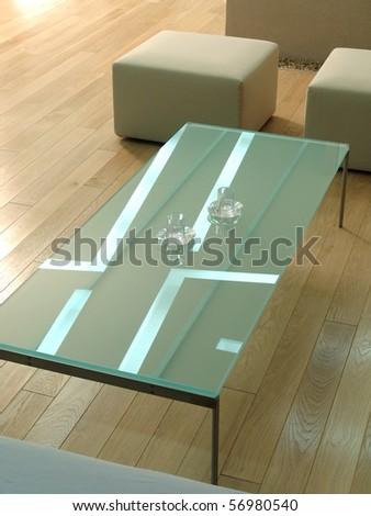 Modern table - stock photo
