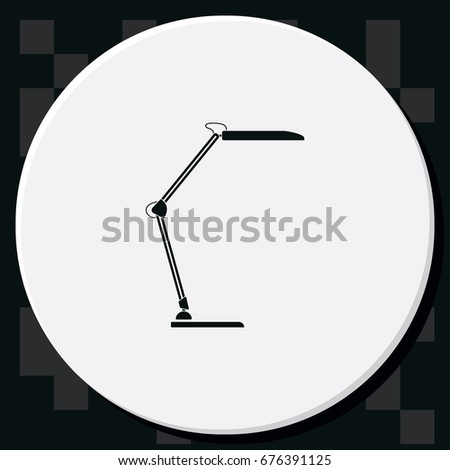 icon lighting. modern table lamp icon lighting illustration