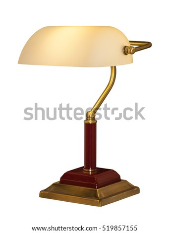 modern table lamp isolated on white background bedside night lamp