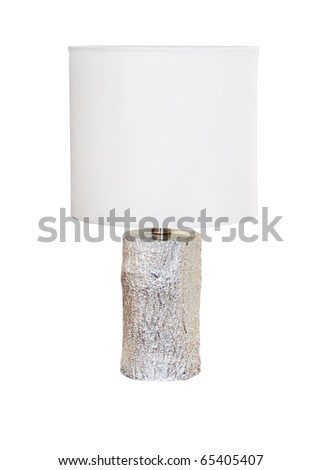 Modern table lamp isolated with clipping path included - stock photo