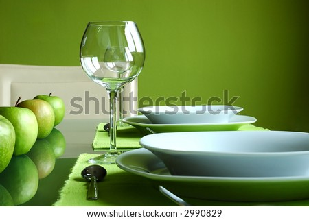 Modern Table Setting - stock photo