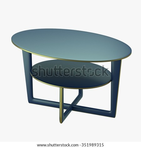 modern table with two levels 3d render