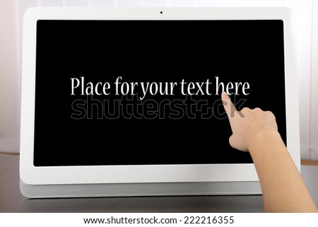 Modern tablet pc close-up - stock photo