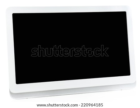 Modern tablet pc isolated on white - stock photo