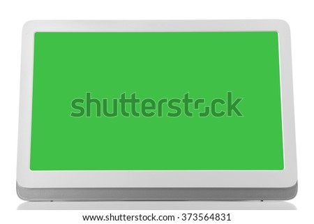 Modern tablet pc isolated on white