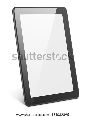 Modern tablet pc isolated on white with clipping path - stock photo