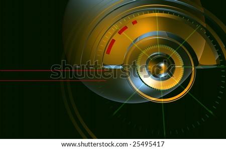 Modern tachometer 1 - stock photo
