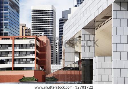 Modern Tall Urban Office Buildings In Sydney, Australia - stock photo