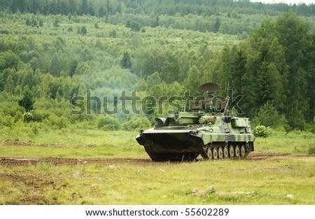 Modern tank - stock photo