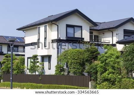 Gable roof stock images royalty free images vectors for Modern gable roof house