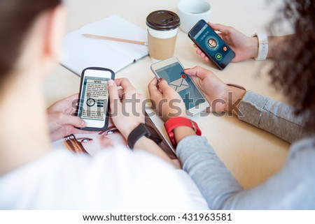 Modern technologies. Always connected persons