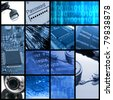 Modern technologies collage - stock photo