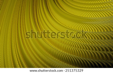 Modern Technology  Background. Gold Wave - stock photo
