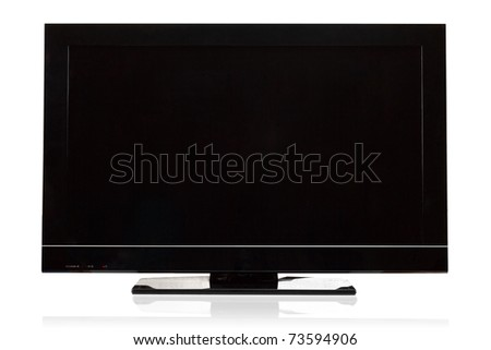 Modern television lcd/plasma - stock photo