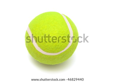 modern tennis ball on a white background