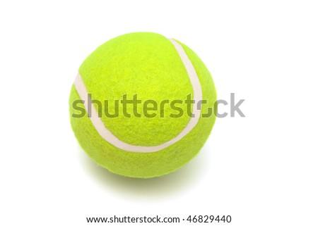 modern tennis ball on a white background - stock photo