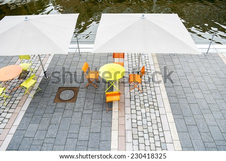 Modern terrace detail - stock photo