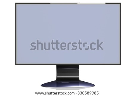 Modern TFT screen - stock photo