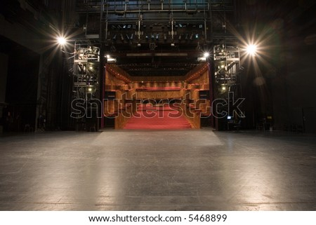 modern theater stage - stock photo