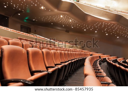 Modern theatre interior view - stock photo