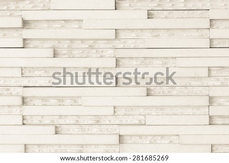 Modern tile wall : Granite tile wall pattern texture background in light cream beige color tone - stock photo