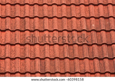 Modern tiles roof - stock photo