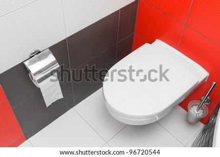Modern toilet WC interior - stock photo