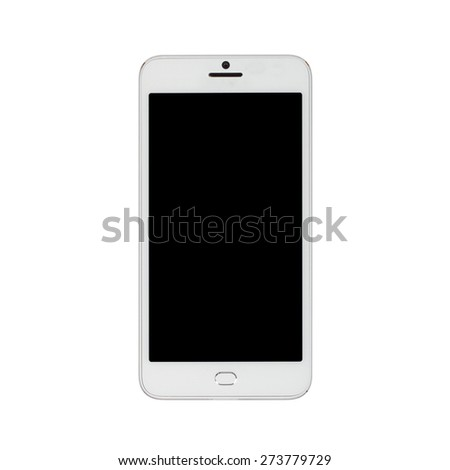 modern touch screen smartphone isolated on white background - stock photo