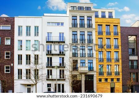 Modern Townhouse in Berlin, Germany - stock photo