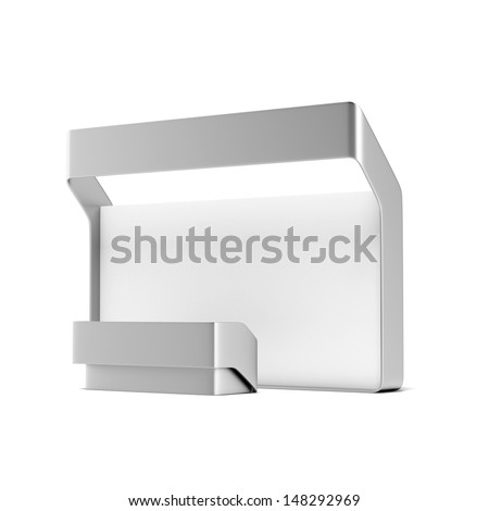 Modern trade exhibition booth - stock photo