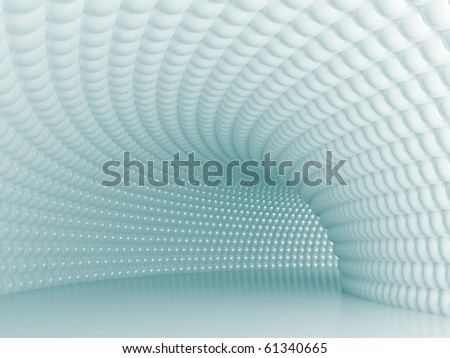 Modern Tunnel - stock photo