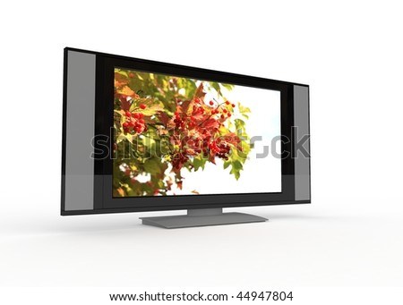 modern tv isolated on a white