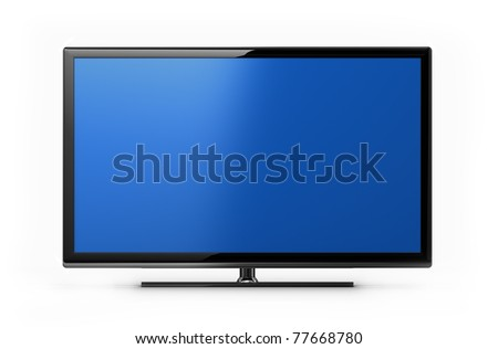 Modern TV screen - stock photo