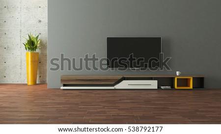 Modern Tv Stand Design Wall Room Stock Illustration 538792177   Shutterstock