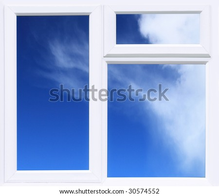 Modern UPVC double glazed Window Background - stock photo