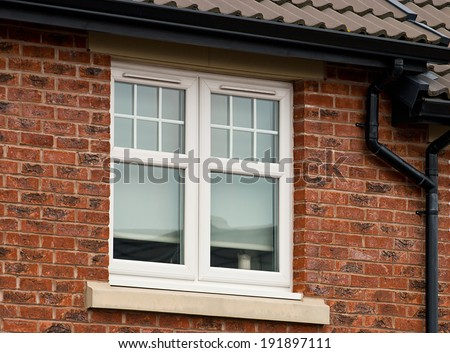 Modern UPVC Double Glazed Window Unit - stock photo