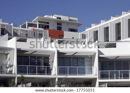 Modern Urban Apartment Building Sydney Australia Stock Photo